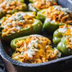 Buffalo Chicken Stuffed Peppers