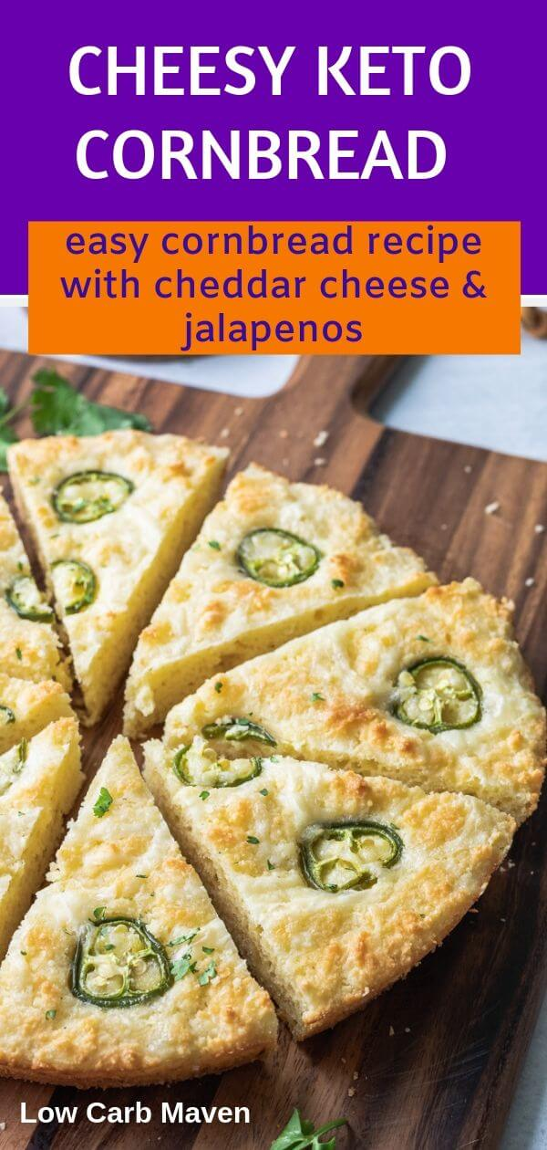 Cheesy Low Carb Keto Cornbread with Jalapenos