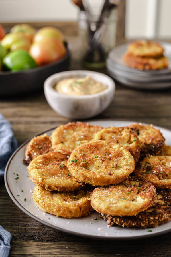 Keto Fried Green Tomatoes