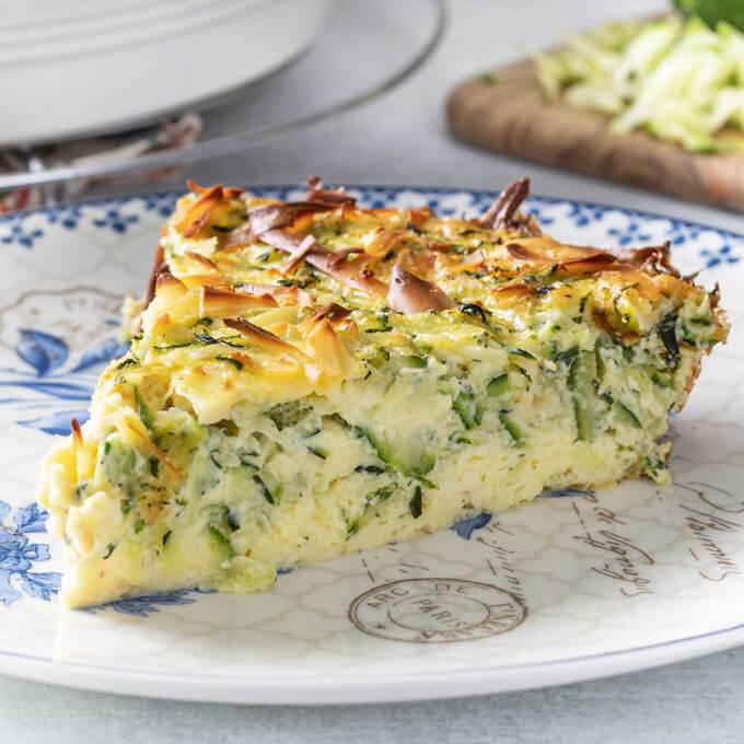 keto crustless zucchini quiche recipe low carb maven
