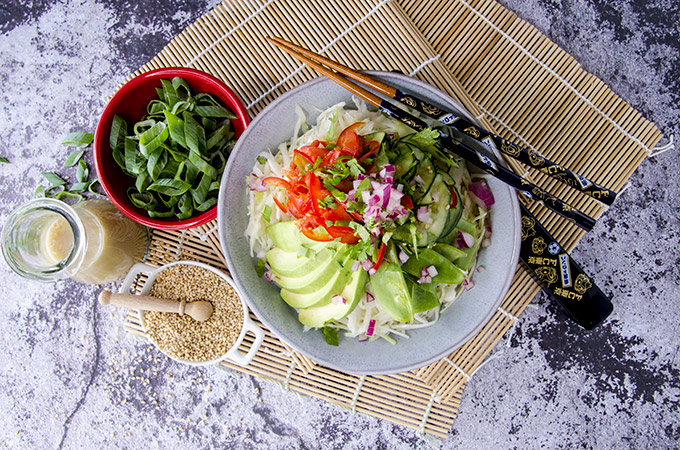 Low Carb Asian Cabbage Salad Recipe
