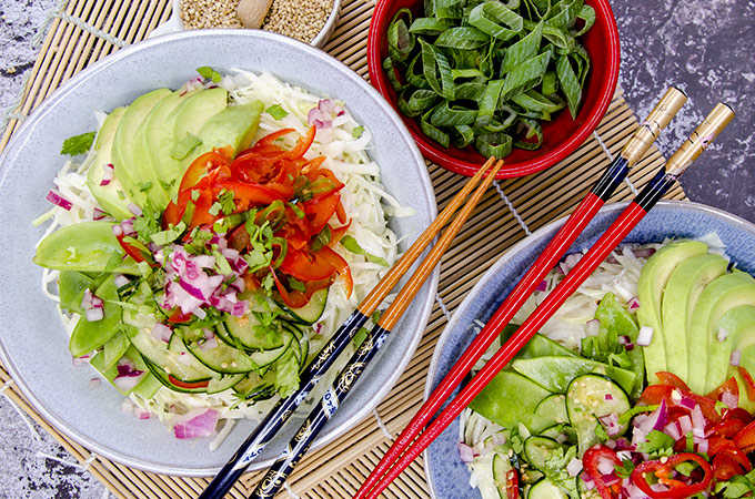 Keto Asian Cabbage Salad Recipe