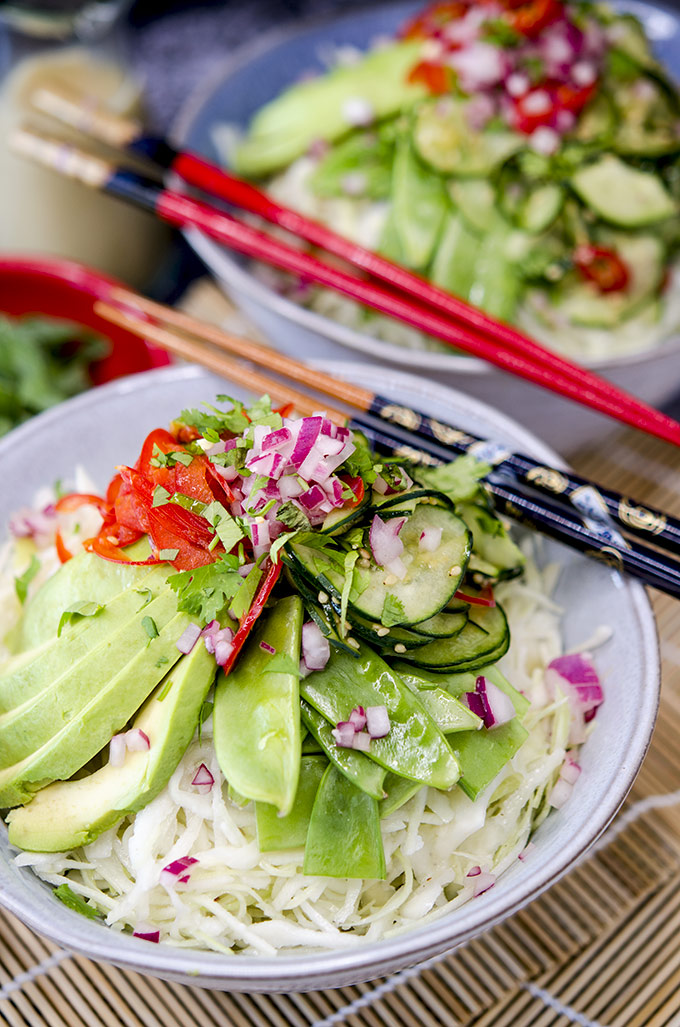 Asian Cabbage Salad Low Carb Recipe