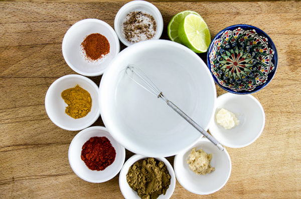 ingredients for grilled tandoori chicken keto marinade