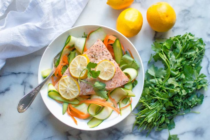 Instant Pot Lemon Garlic Salmon (from frozen!)