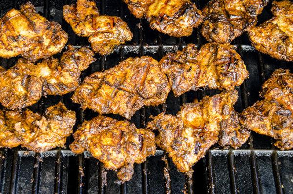 grilled tandoori chicken thighs