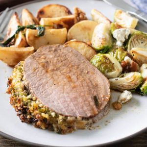 Eye Round Roast Beef with Herbed Crust