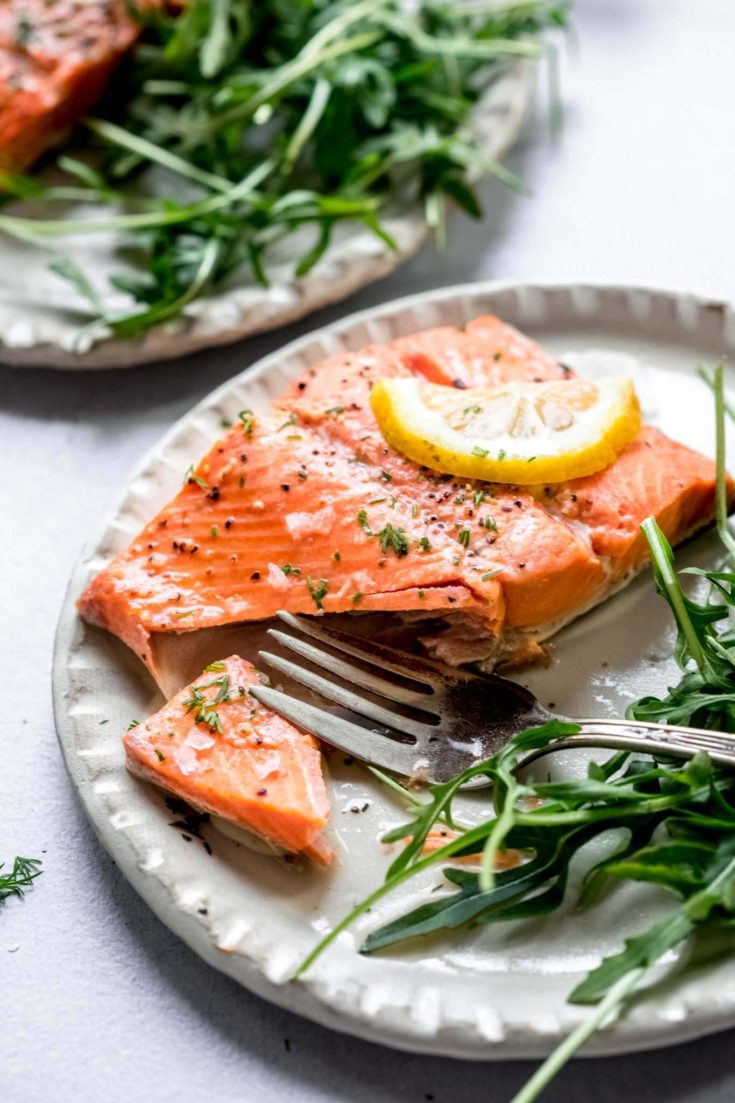 Instant Pot Salmon with Lemon Dill Sauce