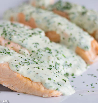Pressure Cooker Salmon with Creamy Herb Parmesan Sauce