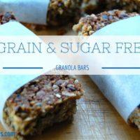 Sugar & Grain Free Granola Bars - easy blender recipe