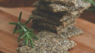 Rosemary Parmesan Chia Seed Crackers - Nut-Free