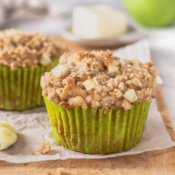 Low carb apple crumb muffins with spice (sugar free)