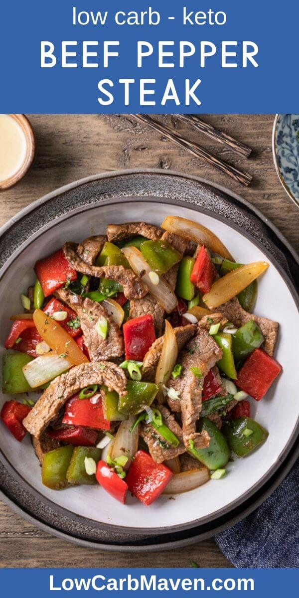 Keto Chinese Pepper Steak Recipe