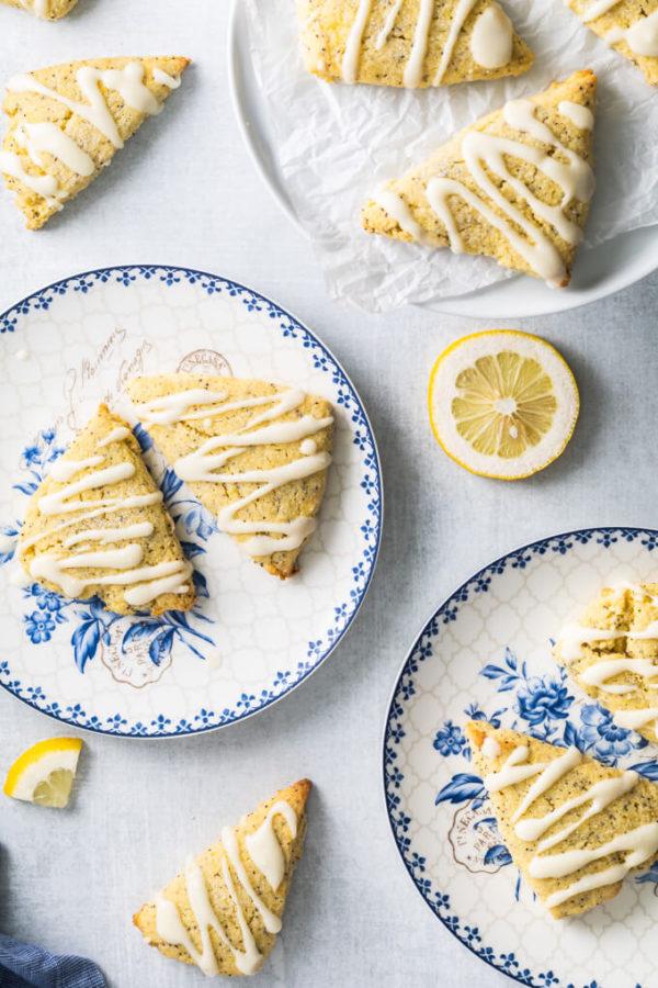 Low Carb Lemon Poppy Seed Scones