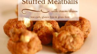 Simple Cream Cheese Stuffed Meatballs - Low carb protein balls