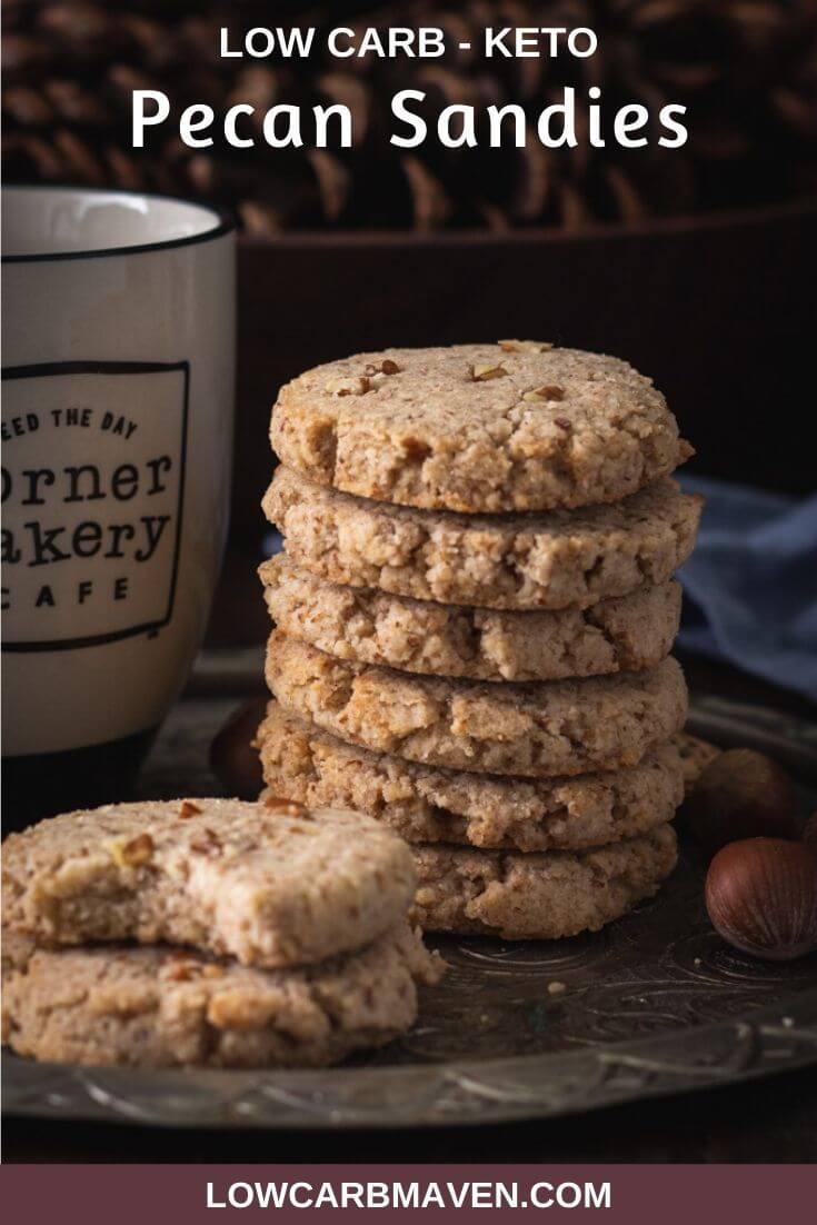 Buttery Keto Pecan Sandies Cookies Recipe
