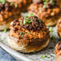 Chorizo Sausage Stuffed Mushrooms