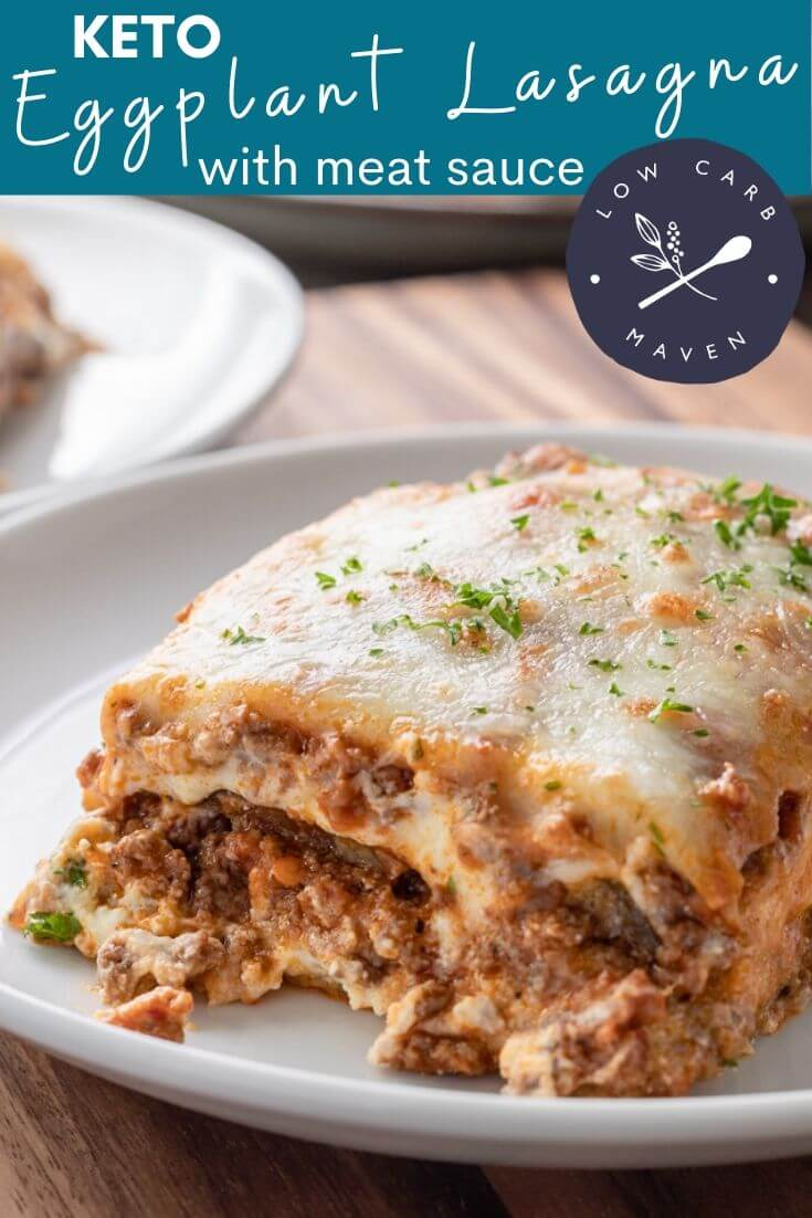 Keto Eggplant Lasagna with Meat Sauce